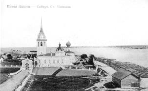 Novaya Ladoga. Medvedsky Monastery of St. Nicholas. Photograph of the early 20th cent.