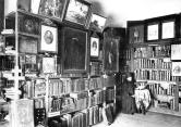 In the library of the Konevsky Monastery. Photograph of the 1900s.