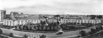 Gostiny Dvor (Merchants' Yard) in Yamburg (now Kingisepp) rebuilded for the barracks and the service rooms of the Tsaritsynsky regiment