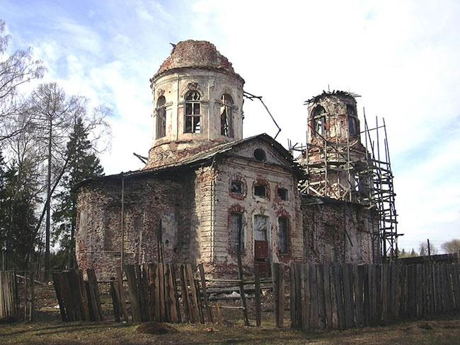The country estate of Elizavetino (Dylitsy). The Church of the Vladimir  Icon of the Virgin