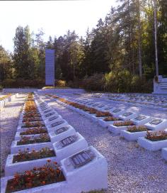 Military cemetery in Luga Town