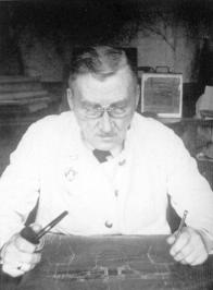 G.O. Graftio at the desk. Photograph of the 1920s