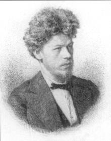 V.M. Maksimov. Engraving of the late 19th cent.