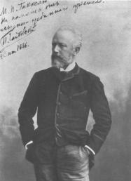 P.I. Tchaikovsky. Photograph of the 1880s