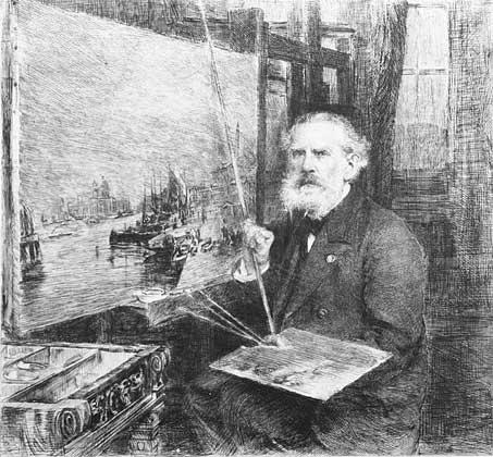 A.P. Bogolyubov. Portrait painted by V.V. Mate. The 1890s