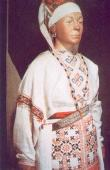 Folk woman costume of the Vod nation. The second half of the 19th cent.