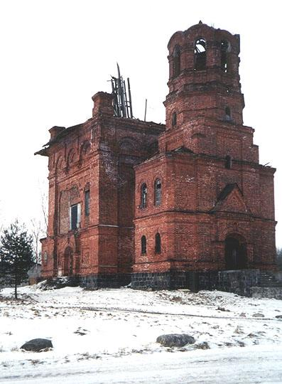 Vsevolozhsk district. The Church of St. Peter of Athos and St.  Princess Olga in Morye Village