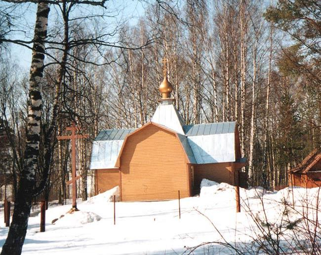 Vybirg district. The Church of St. George in Kamenka Village