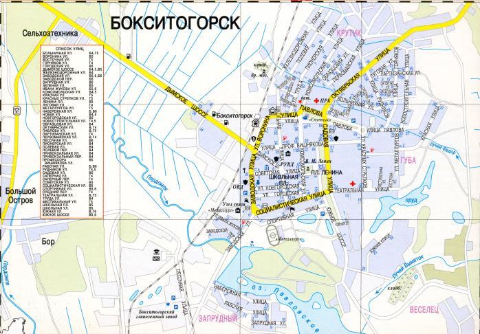 Город Бокситогорск с высоты