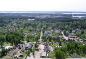 Bird's eye view of the urban village of Sovetsky