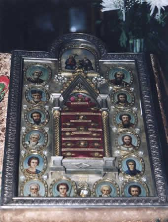 The Church of Apostle Petr and Apostle Paul. Tabernacle with relics