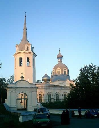 The Cathedral of the Nativity of the Mother of God in Novaya Ladoga Town