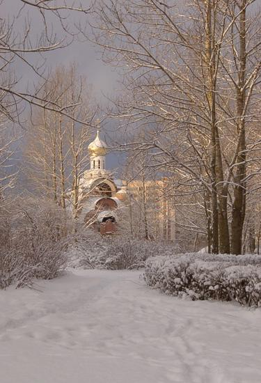 Sosnovy Bor Village. The Church of the Icon of the Mother of God of the Burning Bush