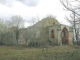 Ruin of the Lutheran Church in Moloskovitsy Village