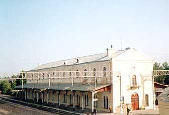 Lyuban Town. The building  of the railway station.