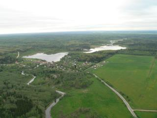 Gatchina district. The River Oredezh and the Chikinskiye ponds