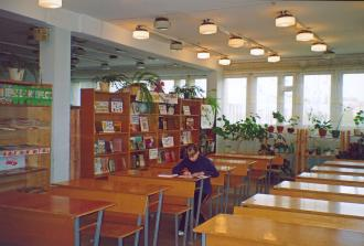 The Priozersk children library. Reading room