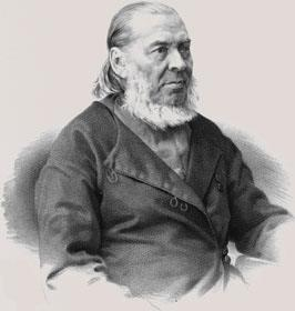 S.T. Aksakov. Lithograph from the portrait painted by I.N. Kramskoy. After 1878