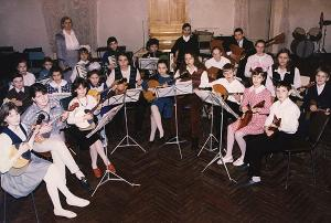 Gatchina children music school named after M.M. Ippolitov-Ivanov. Folk music instruments orchestra