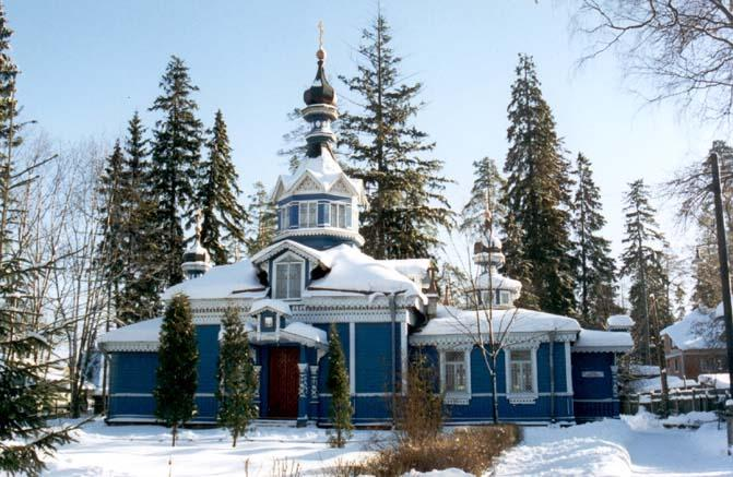 The Church of Apostle Peter and Apostle Paul in the urban village of Siversky