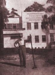 I.P. Pavlov in Koltushi. .Photograph of 1934