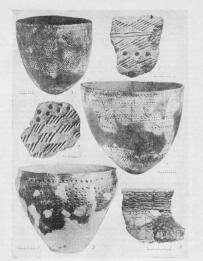 Tools, ceramics and art objects dated from   the  early Metal Age of the Leningrad Oblast