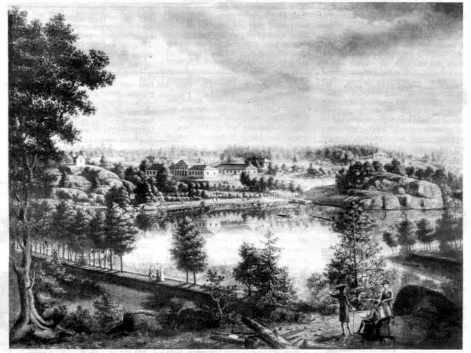 Monrepo country estate. Painting by Y. Mettenleiter. 1796