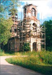 Dylitsy country estate. The Church of the Vladimit Icon of the Mother of God