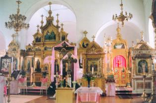 The Porechsky Monastery  of the Intercession. Interior of the Curch of the Itercession of the Mother of God