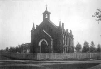 The Catholic Church of St. Nicholas in Luga Town. Photograph of the early 20th cent.
