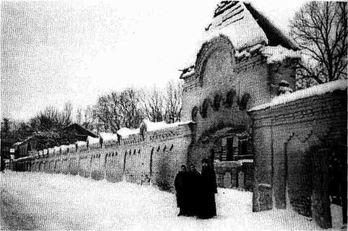 The Pyatigorsk Monastery of the Mother of God. The gate. Photograph of the early 20th cent.