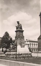 Monument to Mikael Agricola near the Vyborg Cathedral. Photograph of  the 1930s