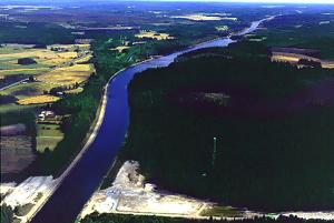 Bird's eye view of the Saimaa Canal