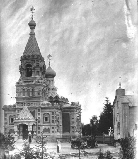 The Gatchina cemetery. The Church of  All Saints. Photograph of the early 20th cent.