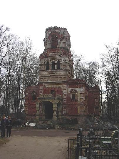 The Gatchina cemetery. The Church of  All Saints.