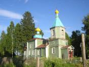 Alekhovshchina Village. The Church of Archangel Mckhael