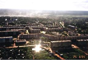 Bird's eye view of  Boksitigorsk Town