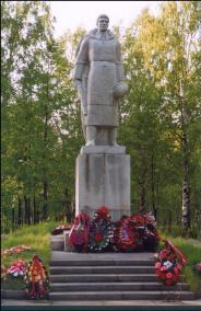 Lodeynoye Pole Town. Monument to Unknown Soldier