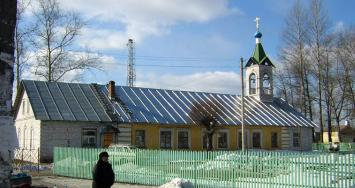 The urban village of Mga. The Church of St. Nicholas the Wonderworker