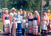 Folk group of Rudno village of the Slantsy district at the festival
