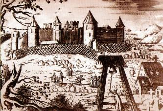 The Yam Fortress. Engraving by A. Olearia. 1634