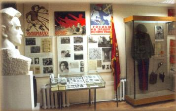 The Luga local- history museum.  Exhibition devoted to the defence of the Luga line in 1941 and the partisan movement during WWII
