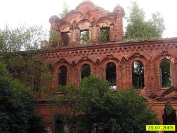 The Alekseevskoye compassion  society. Ruins of the house for the clergy