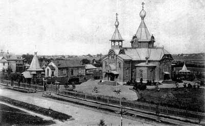 Krasny Bor Village. The Church of St. Prince Alexander Nevsky. Photograph of 1912