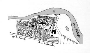 Batovo country estate. Plan. 1915