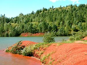 Boksitogorsk Town. Bauxite quarry