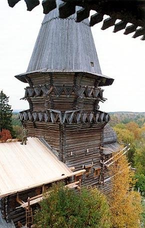The Church of the Nativity of the Mother of  God in Gimreka Village. Fragment