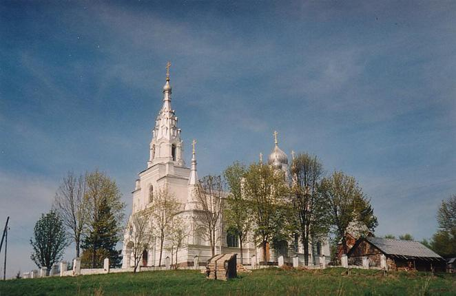 The Slantsy district. The Church of the Intercession of the Mother of God in the Porechsky Convent  of the Intercession