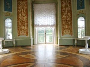 The Venus Pavilion  in the Palace Park of Gatchina (parquet was restored according to the project of architect A.A. Kedrinsky)