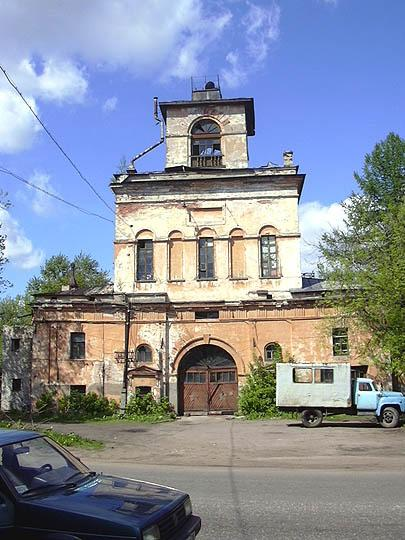 The  Church - over-the -gate    of  St. Catherine (Architect I. Charleman, 1836-1837) in Tikhvin Town